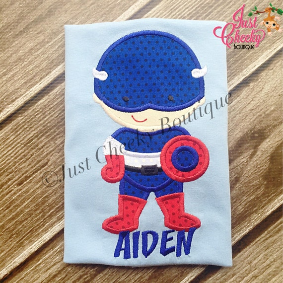 Captain America Cutie Embroidered Shirt - Avengers Inspired -