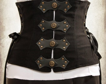 Emilie underbust Steampunk clothing - Medieval underbust for victorian costume and cosplay