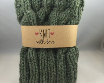 Cable Knit Boot Cuffs/ Boot Toppers in Willow