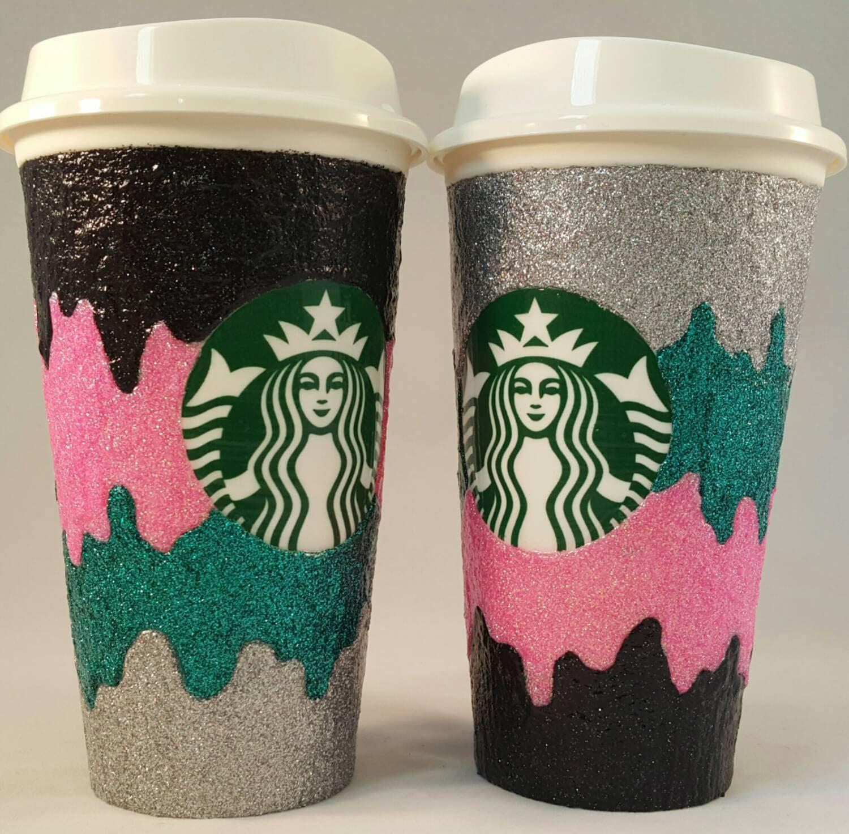 Starbucks Coffee Design: Custom Glitter Coffee Cup