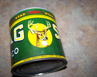 A Vintage Tin Litho Advertising Can Stag Tobacco Imperial Canada