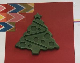 Large Christmas Trees    handpoured    xmas    Unique    OOAK    Diary    Embellishment    christmas    resin    card make    scrapbook   