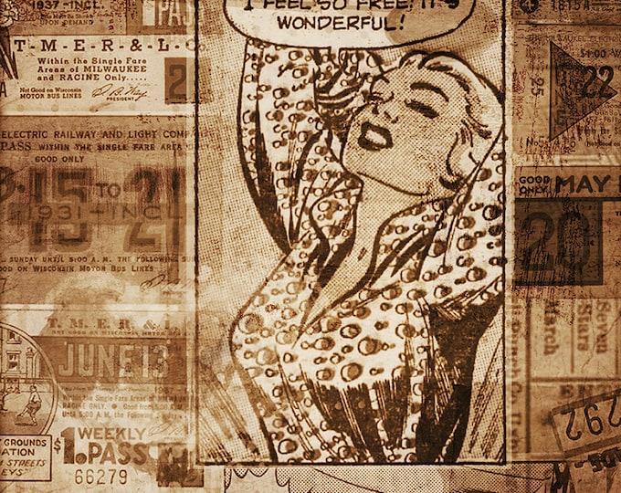 vintage woman comic style art print