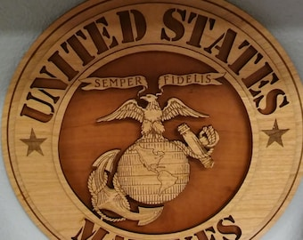 Laser Etched Military Dimension Plaque