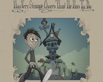 Children's Book, Benjamin Blue Has Very Strange Chores That He Has To Do, written and illustrated by C. Spliedt