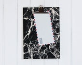 Clipboard marble - wood light raw black screenprint