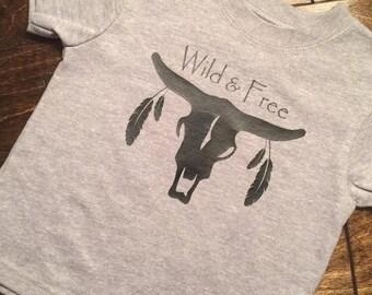 Wild and Free bull skull