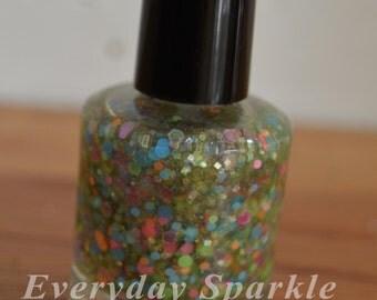Cupcake~ Indie Handmade Nail Polish ~ 5 Free, Custom Blended Glitter Polish