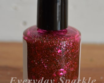 Muffy ~ Indie Handmade Nail Polish ~ 5 Free, Custom Blended Glitter Polish