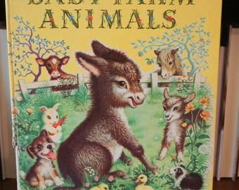 Vintage Baby Farm Animals - A Big Golden Book