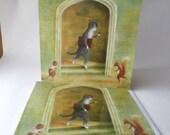 "Single Greetings Card of an original painting: ""John Selden leaving Hare Court, Inner Temple, August, 1614"""
