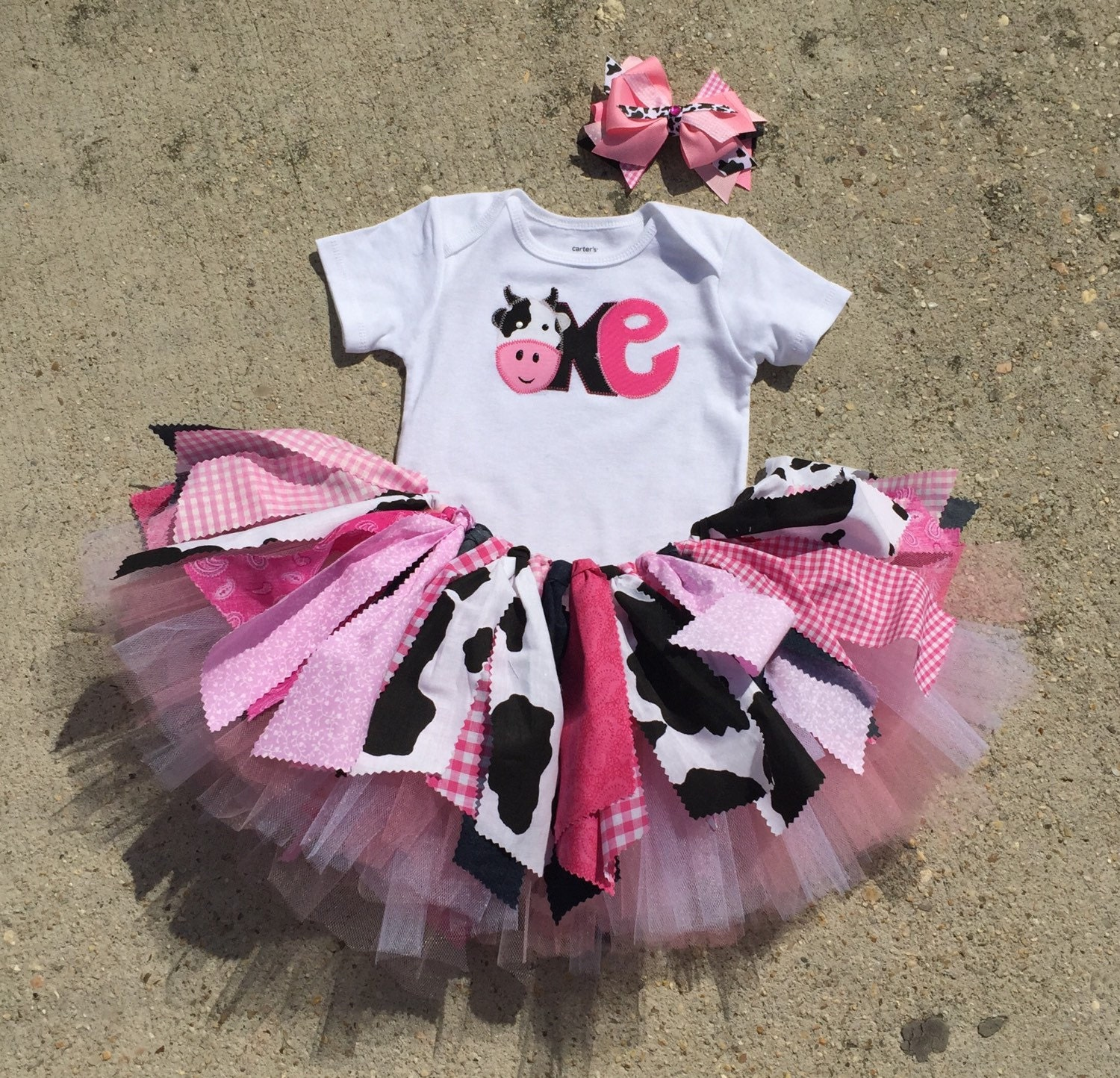 Birthday Party Outfit: Pink Cowgirl Birthday Outfit Cowgirl First Birthday By