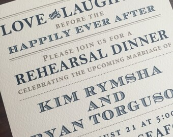 Rehearsal Dinner Insert or Invitation // Simple and Elegant Invite // Purchase this Deposit to Get Started