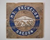 Oregon Art, Mount Bachelor Ski Resort, Mt. Bachelor, Bend Oregon, Barnwood Sign, Salvaged Wood Art, Rustic Art, Oregon Skiing, Salvage Signs