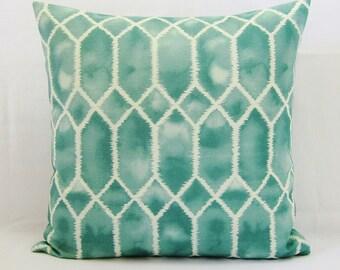 Aquamarine Pillow Cover Seafoam Seaglass Teal Spa Green Decorative Throw Couch 16x16 18x18 20x20 22x22 12x14 12x16 12x18 12x20 14x22 Zipper