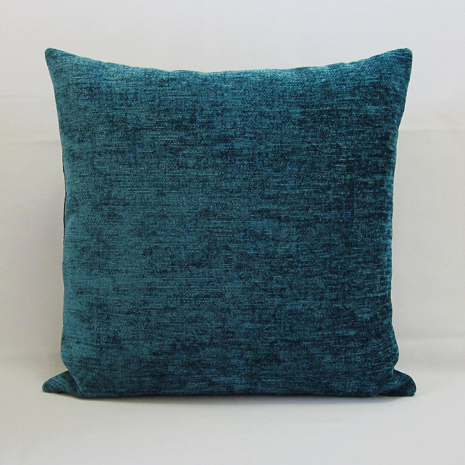 Teal blue throw pillow cover decorative accent toss couch for Decor pillows