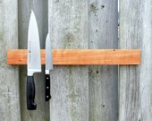 IVAMIR Solid Cherry Wood 18 Inch Magnetic Knife & Tool Rack Made in Canada