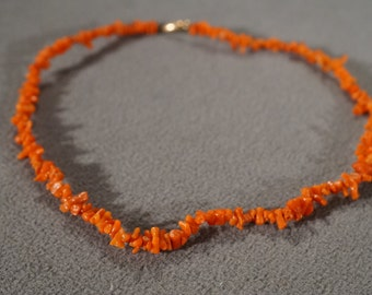Vintage Necklace Victorian Style Genuine Branch Coral      #1072