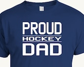 Hockey Dad T-Shirt, Proud hockey dad t-shirt to support your favorite student athlete