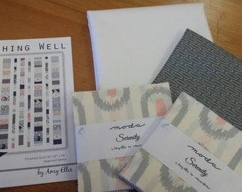 Wishing Well Quilt Kit. New Moda Amy Ellis Fabric Charm Pack Kit