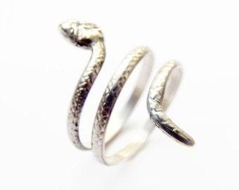 Snake Ring in Sterling Silver