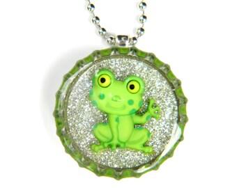 NEW Bottle Cap Necklace - Frog