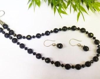 Black Onyx Necklace Set
