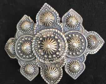"Vintage ""Metal Pointus"" pewter hair barrette clip made in France"