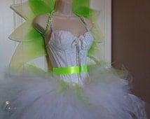 Adult Fairy Costume, Tulle Skirt, Corset, Wings Sz M 32