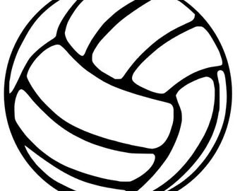 Volleyball Decal- Just Volleyball- 2 Decals