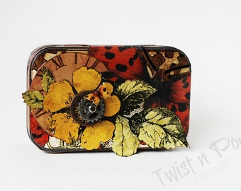Altered Altoids tin and hand made book