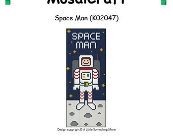 MosaiCraft Pixel Craft Mosaic Art Kit 'Space Man' (Like Mini Mosaic and Paint by Numbers)