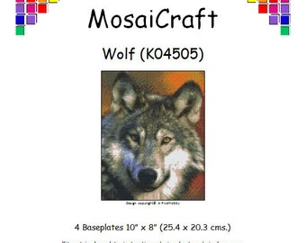MosaiCraft Pixel Craft Mosaic Art Kit 'Wolf' (Like Mini Mosaic and Paint by Numbers)