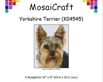 MosaiCraft Pixel Craft Mosaic Art Kit 'Yorkshire Terrier' (Like Mini Mosaic and Paint by Numbers)