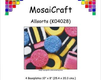 MosaiCraft Pixel Craft Mosaic Art Kit 'Allsorts' (Like Mini Mosaic and Paint by Numbers)