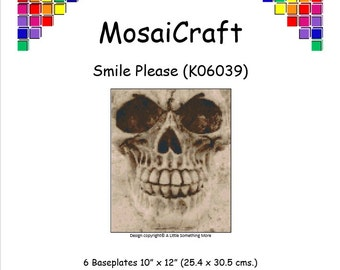 MosaiCraft Pixel Craft Mosaic Art Kit 'Smile Please' (Like Mini Mosaic and Paint by Numbers)