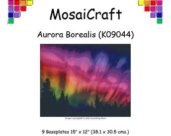 MosaiCraft Pixel Craft Mosaic Art Kit 'Aurora Borealis' (Like Mini Mosaic and Paint by Numbers)