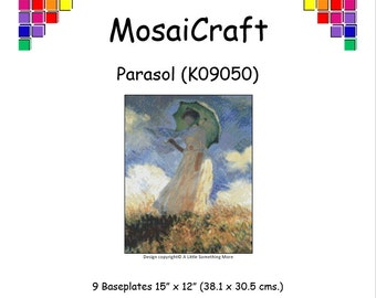 MosaiCraft Pixel Craft Mosaic Art Kit 'Parasol' (Like Mini Mosaic and Paint by Numbers)