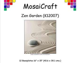 MosaiCraft Pixel Craft Mosaic Art Kit 'Zen Garden' (Like Mini Mosaic and Paint by Numbers)
