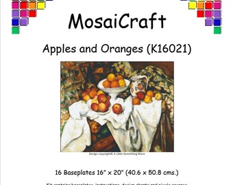 MosaiCraft Pixel Craft Mosaic Art Kit 'Apples And Oranges' (Like  Mini Mosaic and Paint by Numbers)
