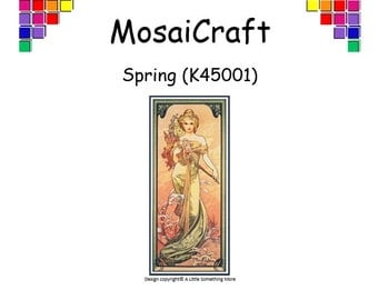 MosaiCraft Pixel Craft Mosaic Art Kit 'Spring' (Like Mini Mosaic and Paint by Numbers)