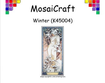 MosaiCraft Pixel Craft Mosaic Art Kit 'Winter' (Like Mini Mosaic and Paint by Numbers)