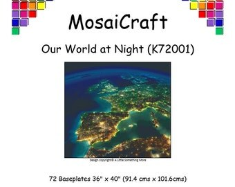 MosaiCraft Pixel Craft Mosaic Art Kit 'Our World At Night' (Like Mini Mosaic and Paint by Numbers)