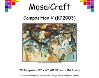 MosaiCraft Pixel Craft Mosaic Art Kit - 'Composition V' (Like Mini Mosaic and Paint by Numbers)