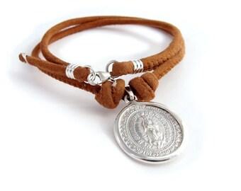 Collar Medalla de Guadalupe mediana