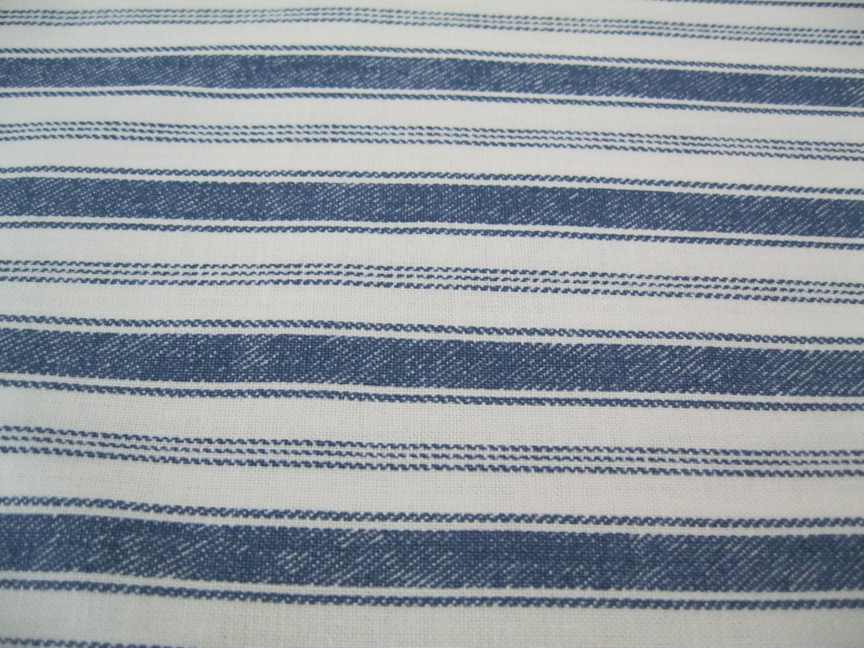 blue and white stripe patterned fabric fat quarter. Black Bedroom Furniture Sets. Home Design Ideas