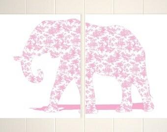 Elephant Art Nursery Art Toddler Girl Room Decor Girls Wall Art Elephant
