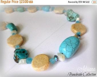 Sale Sandy Blue Necklace