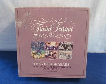 Trivial Pursuit VINTAGE YEARS Master Game