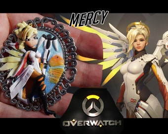 Cameo Mercy Overwatch Handmade Fimo Polymer Clay on request